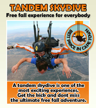 Tandem Skydive Cape Town